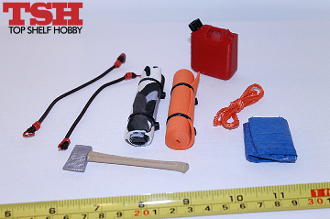 Accessory Pack #2 - Axe, Gas Can, Rolled Pad & Blanket, Bungees+