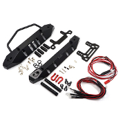 Yeah Racing Aluminum Front & Rear Bumper w/ LED Set