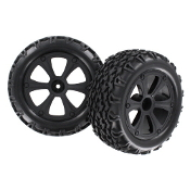 Redcat Racing BS214-009 Wheels & Tires for Blackout XTE