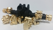 Beef Tubes SCX10 II Lower Link/Shock Mounts - Brass