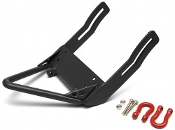 Boom Racing Steel Front Stinger Bumper /Red Towing Hooks Black