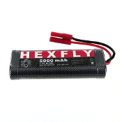 HexFly 5000 Ni-MH Battery - 7.2V with Banana 4.0 Connector