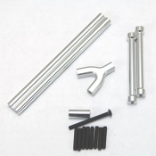 STRC CNC Alum. Front & Rear Upper Suspension Link kit Silver
