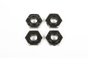 17MM ALUMINUM HUB - BLACK