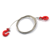 Yeah Racing 1/10 Scale Steel Wire Tow Rope With Hooks YA-0373