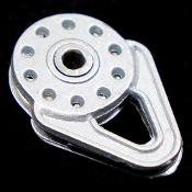 Yeah Racing 1/10 Scale Heavy Duty Winch Snatch Block Silver