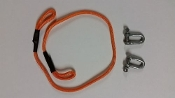 TSH Orange Tow Rope With Shackles for 1/10 Scale RC Rock Crawler