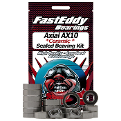 Fast Eddy Axial AX10 Ceramic Rubber Sealed Bearing Kit (All)