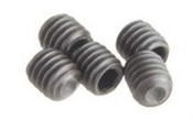 Robinson Racing 4x4 m/m set screws for 5 m/m pinions.(5pcs)