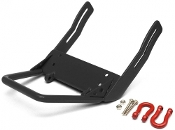 Boom Racing Steel Front Bumper /Trail Bar & Towing Hooks Black