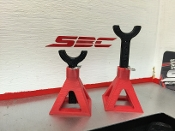 SBC 1/10 Scale Jack Stands (Red)