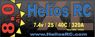 Helios RC 8000 2s 40c Yeti XL LiPo Battery Pack