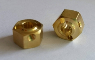 Team KNK Brass 12mm x 8mm Wheel Hex (2 pcs)