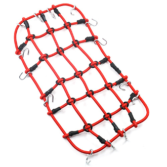 Yeah Racing 1/10 Scale Accessory Luggage Net 200mm x 110mm Red