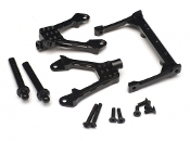 Boom Racing SCX10 Aluminum Front Shock Towers & Frame Brace
