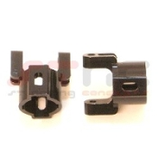 STRC MACHINED ALUMINUM HUB CARRIERS FOR AXIAL AX10/SCX10 (BLACK)