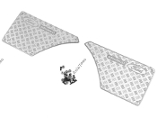 CChand TRX4 Bronco Rear Quarter Panel Diamond Plates