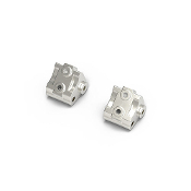 GMADE GS02 BOM Aluminum Link Mount, for GA44 Axle Silver (2pcs)