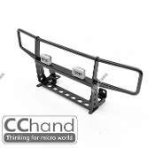 CChand TRX4 Bronco Ranch Front Bumper (Black) with IPF Light