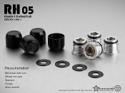 GMADE RH05 1.9″ wheel hubs (Black) (4) for RC Crawlers