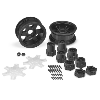 "J Concepts Dragon 2.6"" Mega Truck Wheel, w/ Adaptors & Discs"