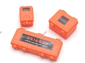 Team Raffee 1/10 Scale Luggage Cases Orange for RC Crawlers