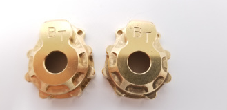 Beef Tubes TRX4 PORTAL COVER - (BRASS) - PAIR